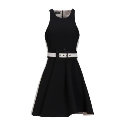 ELISABETTA FRANCHI ミニワンピース&ドレス ブラック 38 ポリエステル 100% ミニワンピース&ドレス