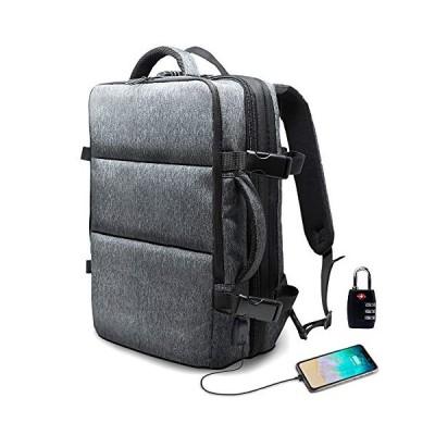 Evoon リュック メンズ ビジネスリュック バックパック リュックサック 大容量 旅行バック 防水 ビジネス 多機能 撥水加工 USB 盗難防止 人気 15.6インチ グレー