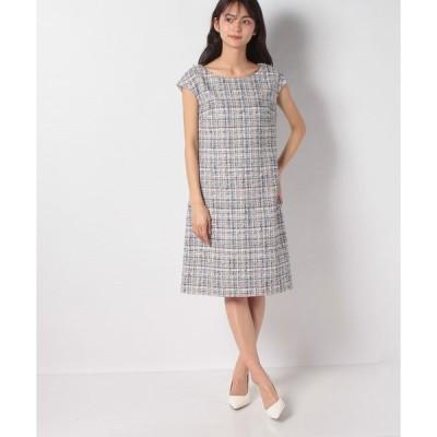 【ミス ジェイ】【アンサンブル対応】ミックスツイードドレス