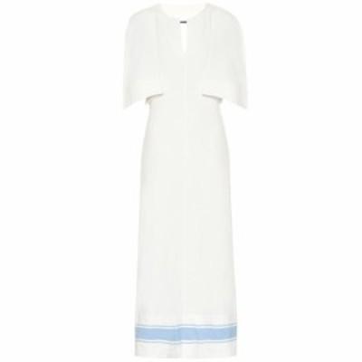 ジル サンダー Jil Sander レディース ワンピース マキシ丈 ワンピース・ドレス Cotton and linen maxi dress open white