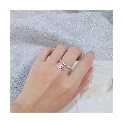 スマイル シルバー925 数珠タイプ指輪 フリーサイズ