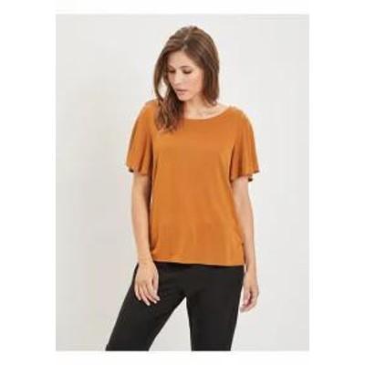 Vila レディーストップス VIATETSY - Print T-shirt - camel camel