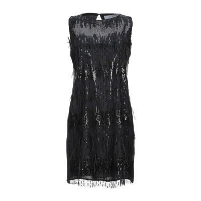 カオス KAOS ミニワンピース&ドレス ブラック 46 ポリエステル 100% ミニワンピース&ドレス