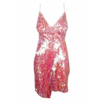 Aidan Mattox エイダンマトックス ファッション ドレス Aidan Mattox Pink Spaghetti Strap Sequin Sheath Dress 2