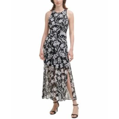 トミー ヒルフィガー レディース ワンピース トップス Printed Maxi Dress Black/Ivory