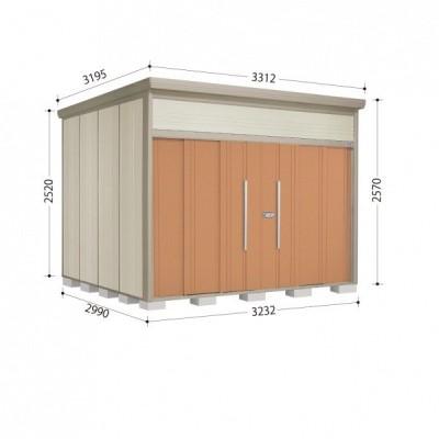物置 屋外 おしゃれ タクボ物置 JN/トールマン JN-S3229 多雪型 標準屋根 『追加金額で工事可能』 トロピカルオレンジ
