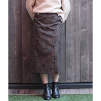 スカート 【KATHARINE ROSS】ブロケードジャガードスカート