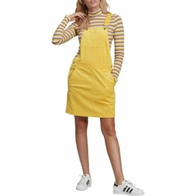 アディダス ADIDAS ORIGINALS レディース ワンピース ワンピース・ドレス Corduroy Pinafore Dress Corn Yellow