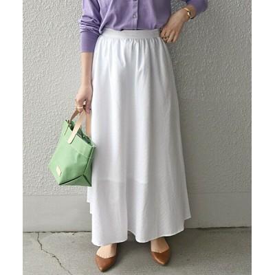 SHIPS for women/シップスウィメン SHIPS any:ジャカードAラインスカート ホワイト 36