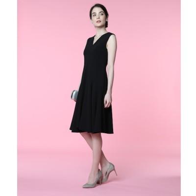 【エフデーゼ/EFDEISEE】 《M Maglie le cassetto》Vネック切り替えドレス