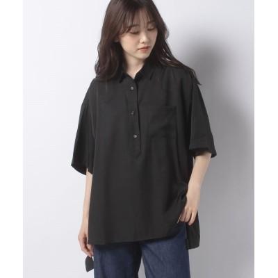 【ナイスクラップ アウトレット】 バックロゴデザインシャツ レディース ブラック FREE NICE CLAUP OUTLET