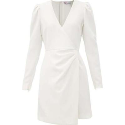 レッド ヴァレンティノ REDValentino レディース パーティードレス ワンピース・ドレス Wrap-front crepe dress White