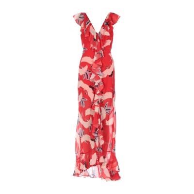 DE LA VALI ロングワンピース&ドレス レッド 6 ポリエステル 100% ロングワンピース&ドレス