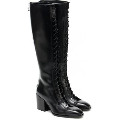 アイデ Aeyde レディース ブーツ シューズ・靴 Britta Leather Knee-High Boots Black