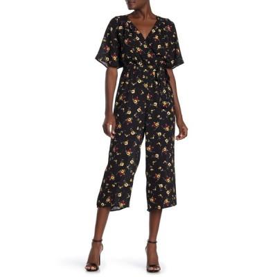 ロウエー レディース ワンピース トップス Back Cutout Floral Print Jumpsuit WHBKYEL