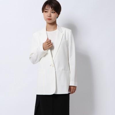 リネーム Rename ストライプ柄サマージャケット (ホワイト)