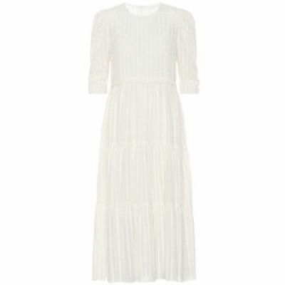クロエ See By Chloe レディース ワンピース ワンピース・ドレス striped cotton-blend dress Natural White
