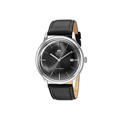 Orient Men's 2nd Generation Bambino 40.5mm Black Leather Band Steel Case Au