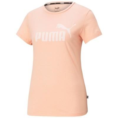 プーマ Tシャツ トップス レディース Essential Cotton Logo T-Shirt Poppy Red-tonal