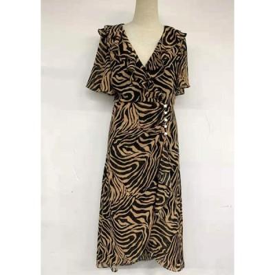ゼブラデザインのドレス(zebra lining dress)