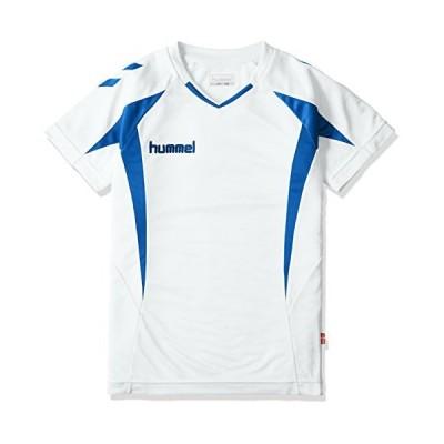 [ヒュンメル] 半袖シャツ プラクティスシャツ ボーイズ ホワイト×ロイヤルブルー (1063) 日本 140 (日本サイズ140 相当)