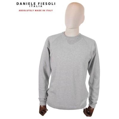【国内正規品】DANIELE FIESOLI ダニエレ フィエゾーリ スウェットトレーナー ラグラン コットン イタリア製 DF0322 グレー