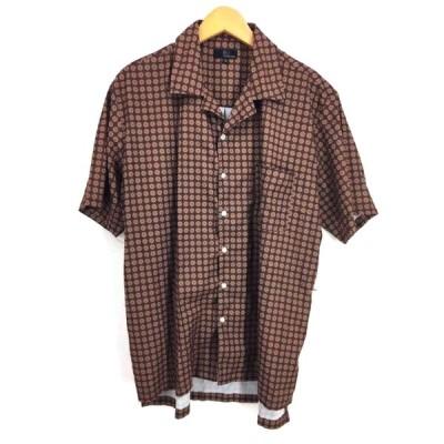 ジップファイブ ZIP FIVE 総柄オープンカラーシャツ メンズ XL 中古 210323