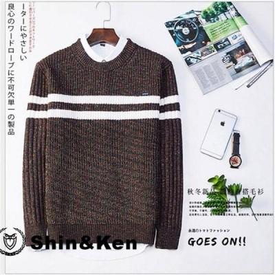 ニットセーター メンズ ニット 長袖セーター タートルネック メンズプルオーバー ゆったり 無地 リラックス