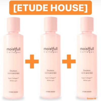[ETUDE HOUSE エチュードハウス] 1+1+1(選択可能) 2019 NEW 水分いっぱい  コラーゲン トナー / エマルジョン / MOISTFULL COLLAGEN