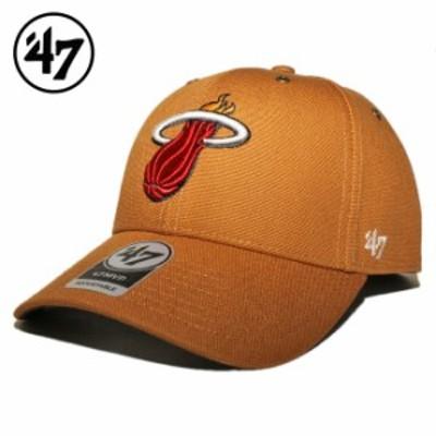 47ブランド カーハート コラボ ストラップバックキャップ 帽子 メンズ レディース 47BRAND CARHARTT NBA マイアミ ヒート フリーサイズ [