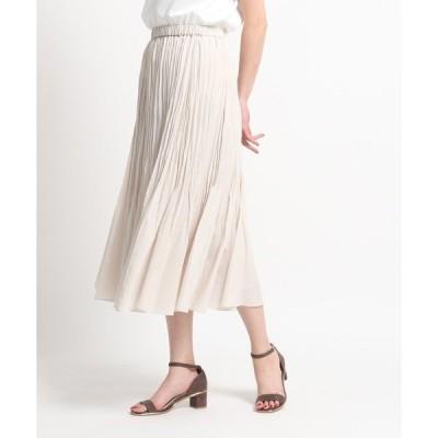 スカート 【洗える】ランダムプリーツロングスカート