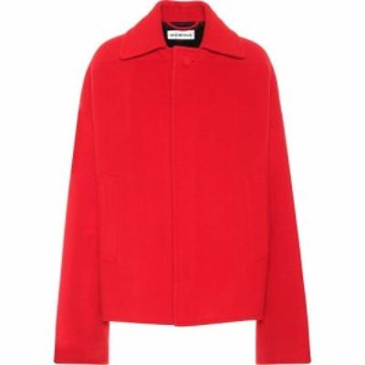 バレンシアガ Balenciaga レディース コート ピーコート アウター wool and cashmere pea coat Red