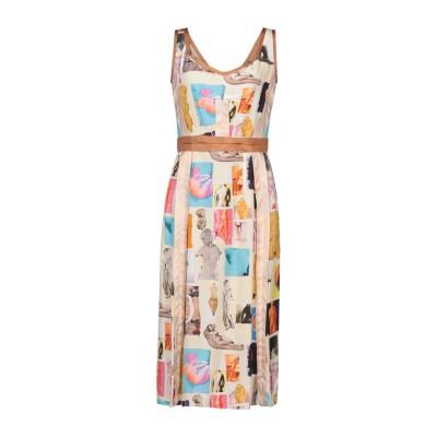 マルニ MARNI 7分丈ワンピース・ドレス ベージュ 42 レーヨン 100% / シルク 7分丈ワンピース・ドレス