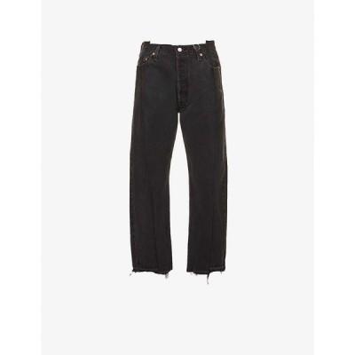 EBデニム EB DENIM レディース ジーンズ・デニム ボトムス・パンツ Upcycled OG Reinvented straight-leg high-rise jeans BLACK