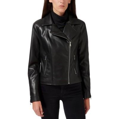 サム エデルマン Sam Edelman レディース レザージャケット モーターサイクルジャケット アウター Faux-Leather Moto Jacket Black