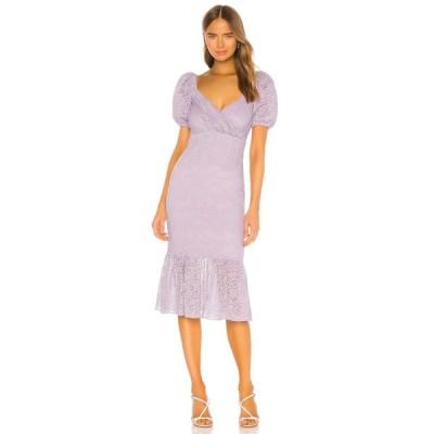 マジョレル MAJORELLE レディース ワンピース ミドル丈 ワンピース・ドレス Sammy Midi Dress Purple Frost