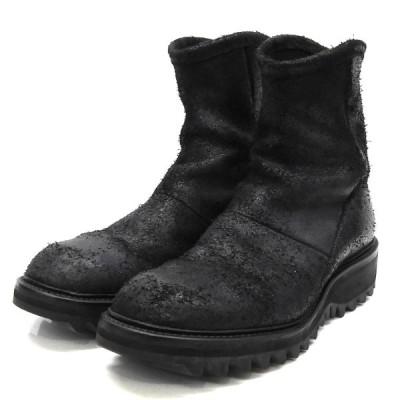 JULIUS シャークソールバックジップブーツ ブラック サイズ:2 (渋谷店) 210115
