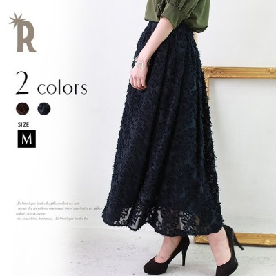 【Spring SALE】ボトムス (85-86512)  レディーススカート ロング フリンジ 刺繍 フレア  innowave▼