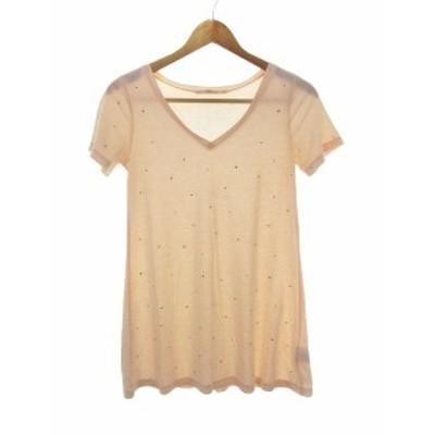 【中古】スナイデル snidel Tシャツ カットソー 半袖 総柄 F ピンク  /CK レディース
