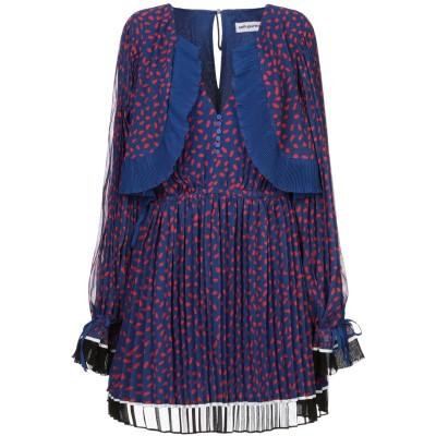 SELF-PORTRAIT ミニワンピース&ドレス ブルー 10 ポリエステル 100% ミニワンピース&ドレス