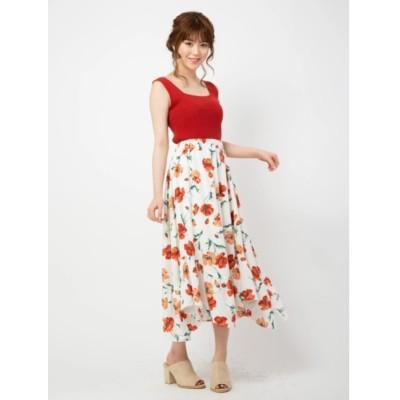 【セシルマクビー/CECIL McBEE】 花柄アシンメトリースカート