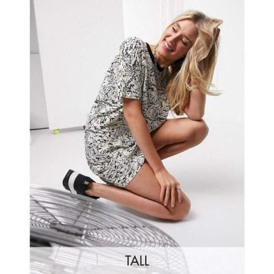ノイズィーメイ Noisy May Tall レディース ワンピース Tシャツワンピース ワンピース・ドレス t-shirt dress in marble print マルチカラー