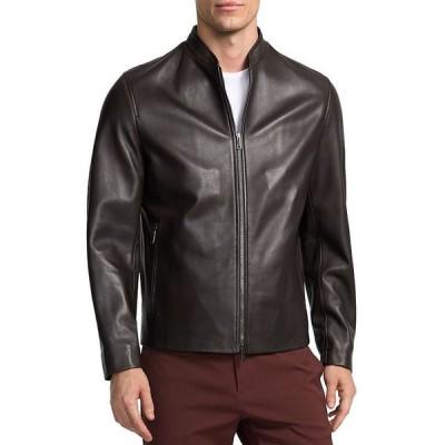 セオリー メンズ ジャケット・ブルゾン アウター Moore Leather Jacket
