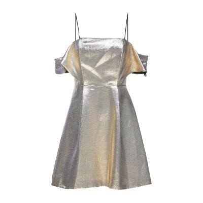 SANDRO ミニワンピース&ドレス ゴールド 1 コットン 94% / ポリウレタン 6% ミニワンピース&ドレス