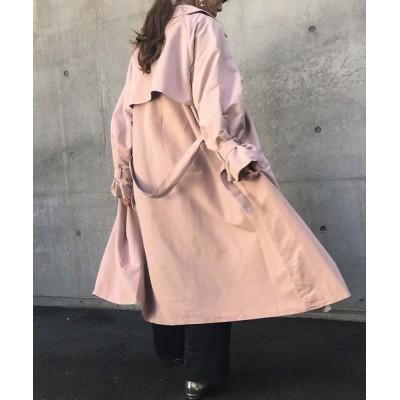 Fashion Letter / キャンディ袖ビッグトレンチコート ライトアウター ロングコート 21SS WOMEN ジャケット/アウター > トレンチコート