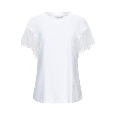 アルベルタ フェレッティ ALBERTA FERRETTI T シャツ ホワイト 36 コットン 100% / シルク T シャツ