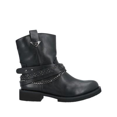 LAURA BIAGIOTTI ショートブーツ ブラック 36 紡績繊維 ショートブーツ