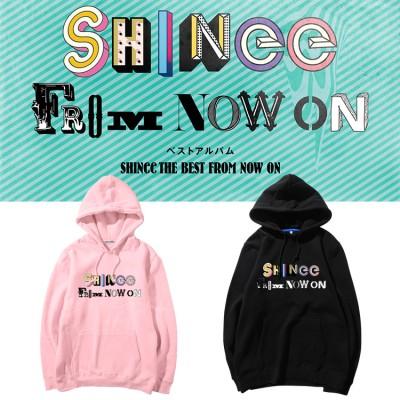 大人気!SHINee THE BEST FROM NOW ONアルバム週辺フードスウェット韓国ファッション  男女兼用  トップス 韓国  厚手/薄 パーカー トレーナー