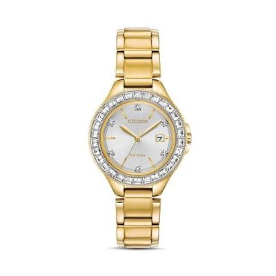 シチズン レディース 腕時計 アクセサリー Crystal Eco-Drive Gold-Tone Watch 31mm