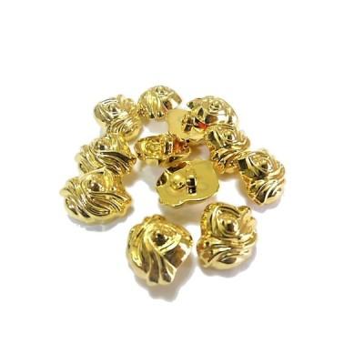 ボタン 手芸 素材 17mm 金色 メタル ABS(プラスチック系) ボタン 12個入り